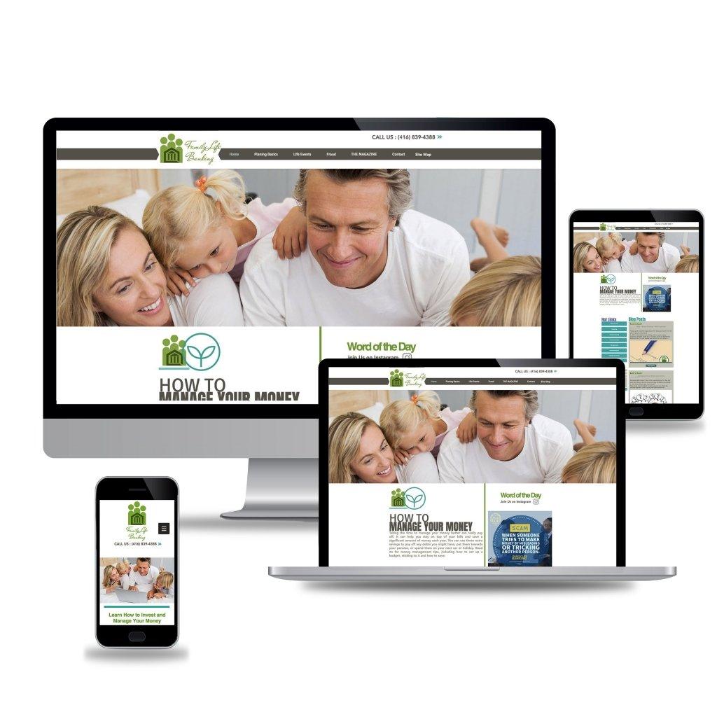 Family Life Banking White Web Design Mockup copy