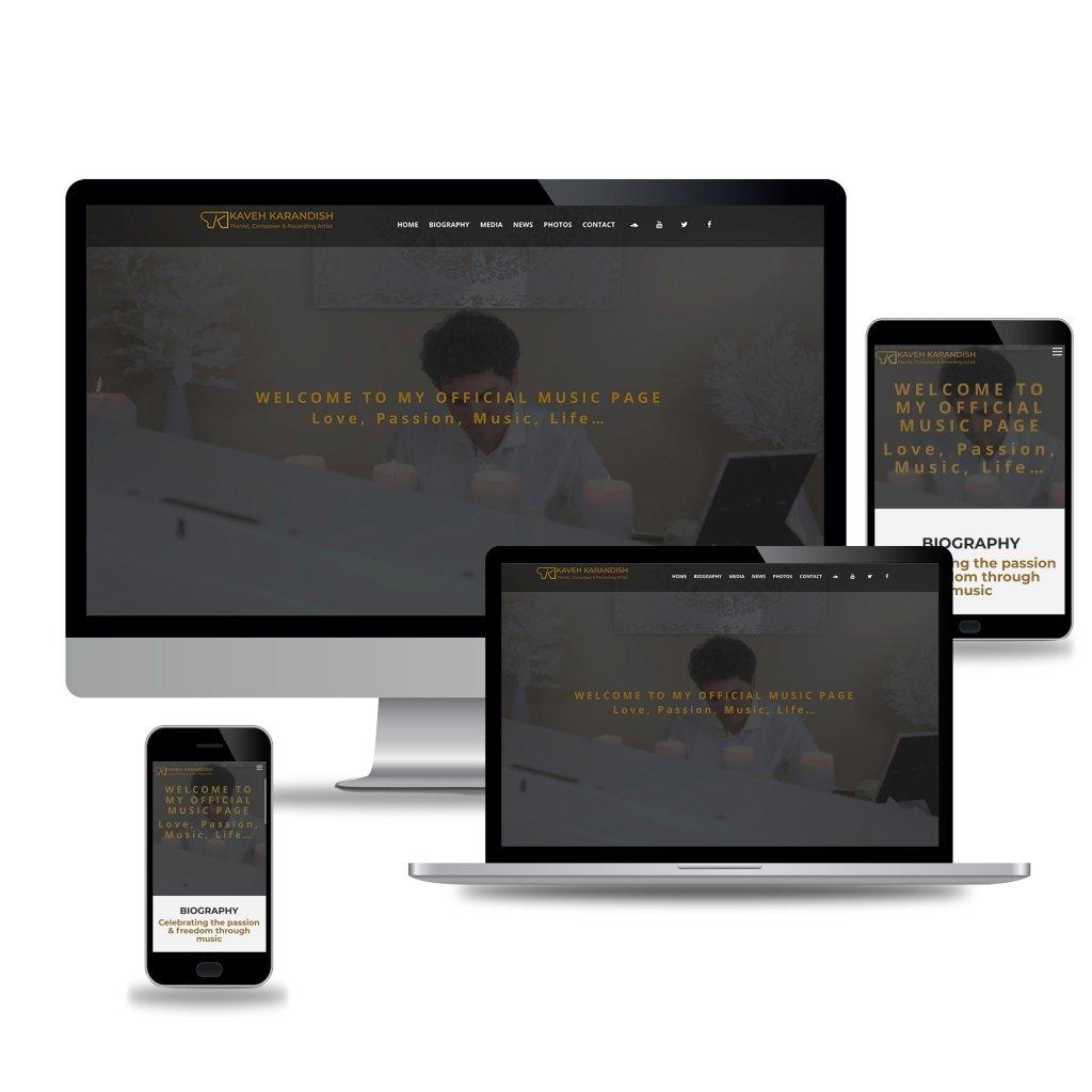 Kaveh Piano Web Design Mockup