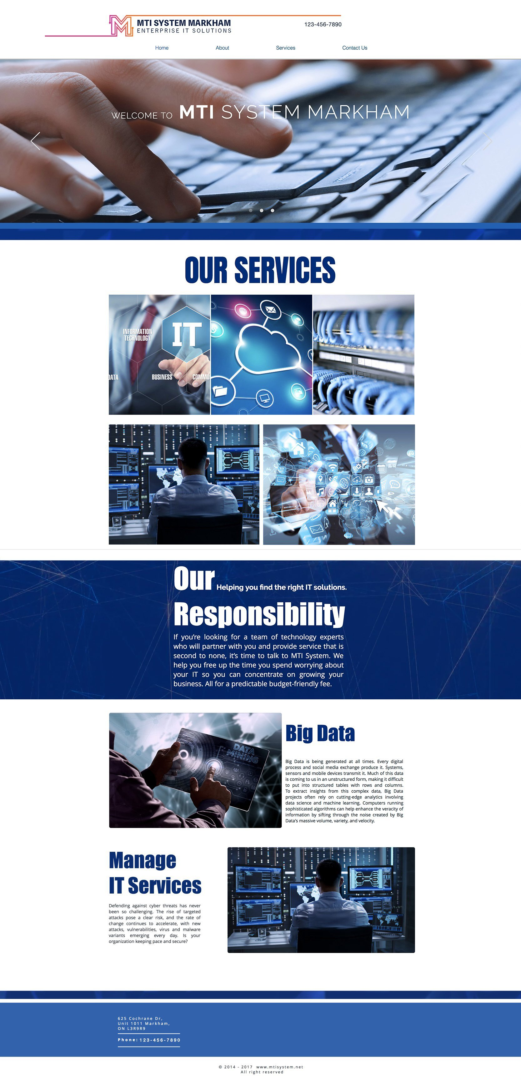 MTI System Web Design