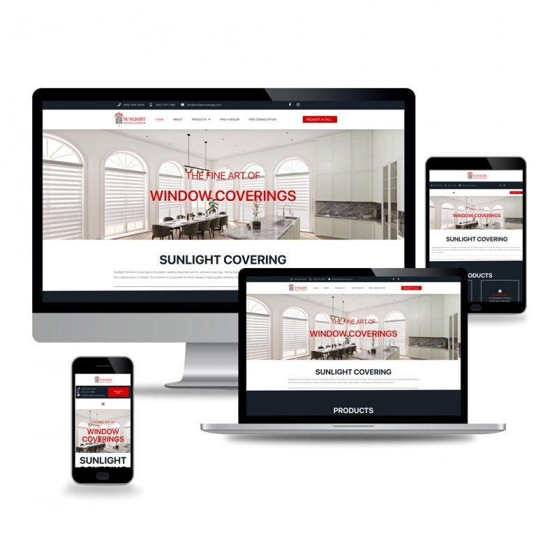 Sunlight Window Coverings – Web Design