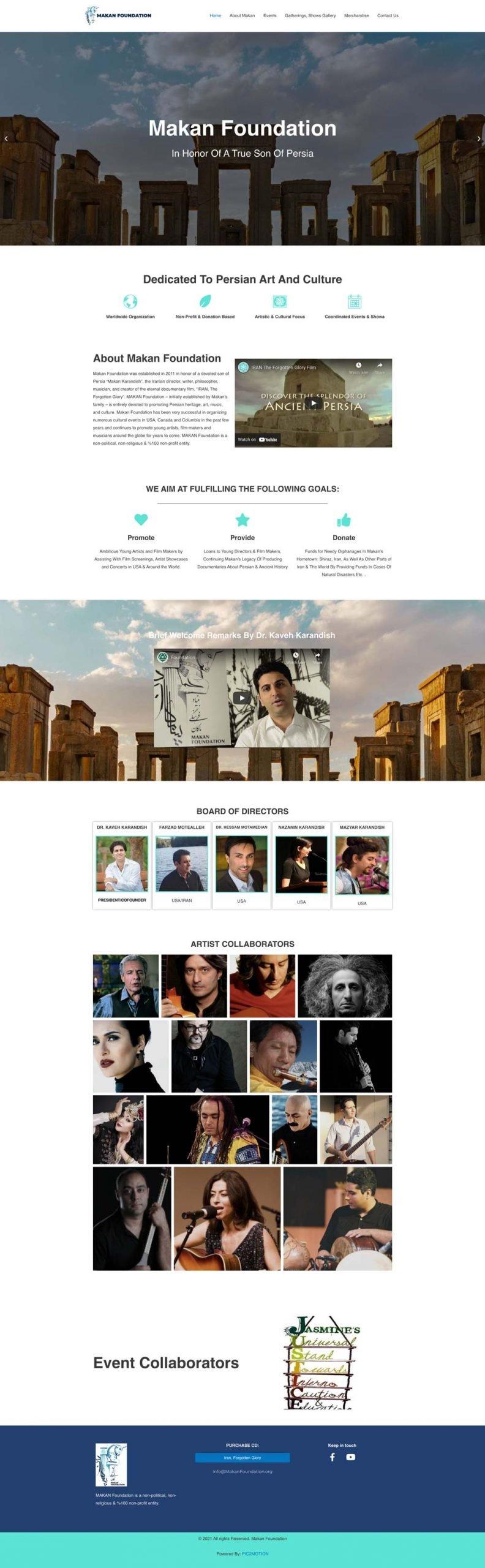 Makan-Foundation-Non-Profit-Non-Political-Organization--Web-design-and-development-by--PIC2MOTION