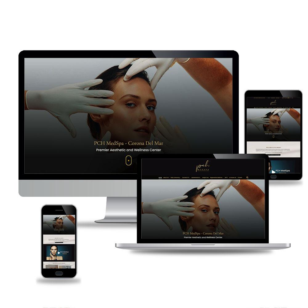 PCH MedSpa Web Design Mockup
